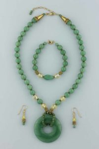 jade necklace earrings bracelet