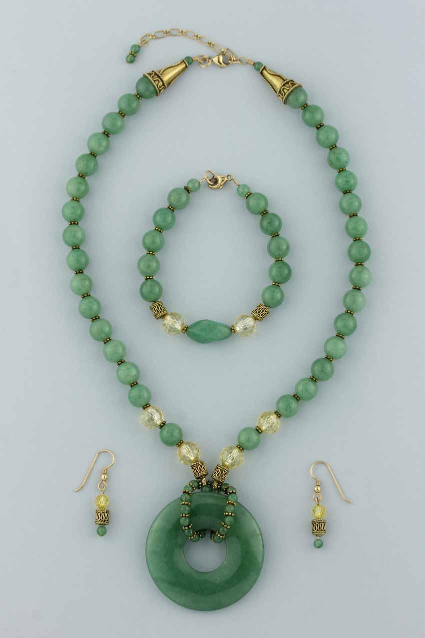 jade necklace earrings bracelet