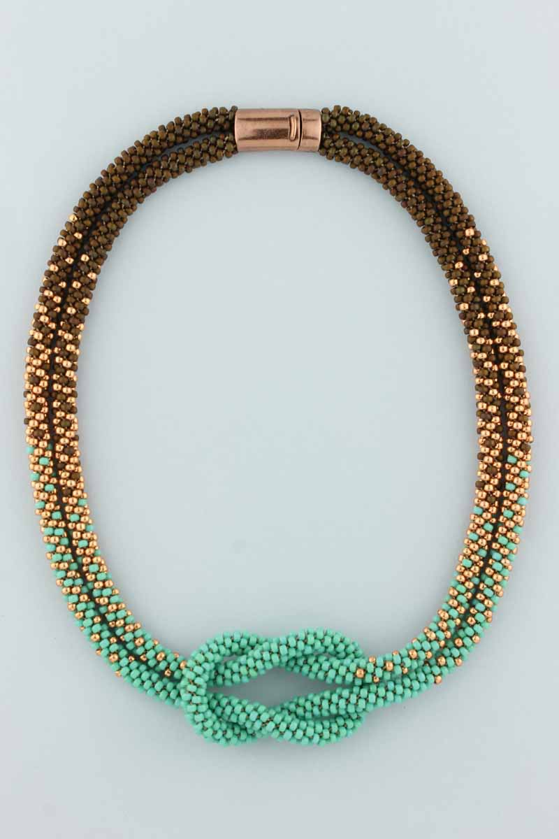 love knot beaded necklace